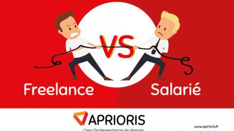 infographie opposant les freelances et les salariés